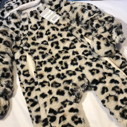 Leopard Print All In One  6-12   12- 18 Months